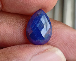 SAPPHIRE BLUE ROSE CUT GENUINE GEMSTONE VA1359