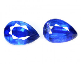 1.97 Cts 2 Pcs Fancy Royal Blue Color Natural Kyanite Gemstone