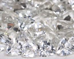 White Topaz 6.69Ct Trillion Cut Natural White Topaz Lot B1726