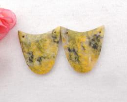 50Cts New !! Honey Jade Earrings ,Natural Gemstone Earrings ,Handmade Gemst