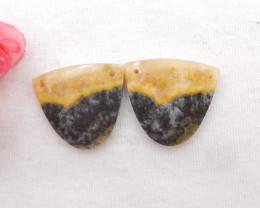 39Cts New !! Honey Jade Earrings ,Natural Gemstone Earrings ,Handmade Gemst