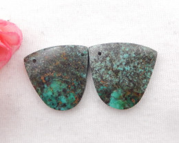 34cts African Turquoise Earrings,Handmade Gemstone ,Turquoise Earrings H776