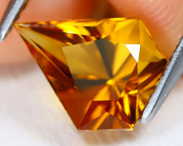 Madeira Citrine 1.72Ct VVS Fancy Cut Natural Orange Citrine AB1757
