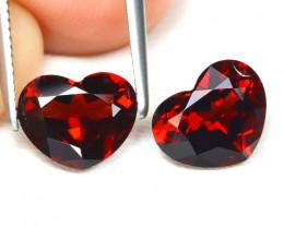 Almandine 3.38Ct 2Pcs VVS Heart Cut Natural Almandine Garnet B1770