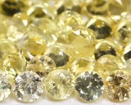 1.72Ct Calibrate 1.7mm Round Natural Ceylon Yellow Sapphire AB1813