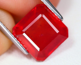 Red Ruby 4.21Ct Radiant Cut Pigeon Blood Red Ruby B1834