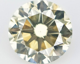 0.38 cts ,Rarest Color Diamond , Green Yellow Overtone Diamond