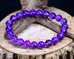 97.00Ct Natural Amethyst Beads Bracelet B1849
