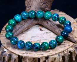 144.35Ct Natural Azurite Beads Bracelet B1852