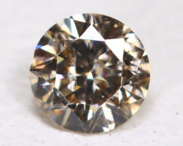 Orangy Matalic Diamond 0.11Ct Natural Untreated Fancy Dimond AB1870