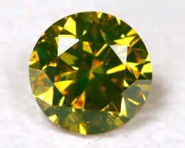 Greenish Yellow Diamond 0.11Ct Natural Untreated Fancy Dimond B1877