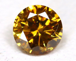 Yellowish Orange Diamond 0.10Ct Natural Untreated Fancy Dimond B1880