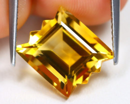 Citrine 5.26Ct VVS Designer Cut Natural Golden Yellow Citrine AB1866
