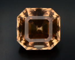 Champange Color 13.25 Ct Natural Precious Topaz - Skardu Mine ~ Asscher Cut