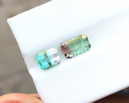 2.70 Ct Natural Bi Color Transparent Tourmaline Gemstones Parcels