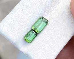 2.90 Ct Natural Green Transparent Tourmaline Ring Size Gemstones Parcels