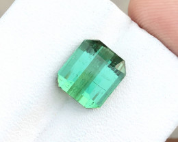 4.40 Ct Natural Green Transparent Ring Size Tourmaline Gemstone