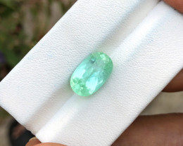 4.10 Ct Natural Green Transparent Tourmaline Gemstone