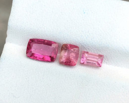 2.35 Ct Natural Rubellite Transparent Tourmaline Gemstones Parcels