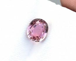 1.70 Ct Natural Pink Transparent Tourmaline Ring Size Gemstone