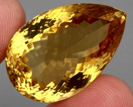 65.44  ct. 100% Natural Unheated Top Yellow Golden Citrine Brazil