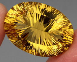 51.18 ct. Top Quality Natural Earth Mined Golden Yellow Citrine Brazil Unhe