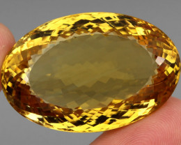 Museum 136.75 ct. Top Quality Natural Earth Mined Golden Yellow Citrine Bra