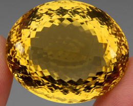 Museum Size 116.51 ct.  Natural Unheated Top Quality Yellow Golden Citrine