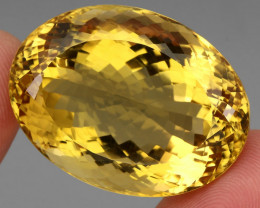 Museum Size 123.91 ct.  Natural Unheated Top Quality Yellow Golden Citrine