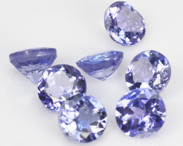 2.10 Cts 7pcs Amazing rare A+ Violet Blue Color Natural Tanzanite Gemstone