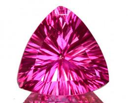 ~CONCAVE CUT~ 3.03 Cts Candy Pink Topaz 9mm Trillion Cut Brazil