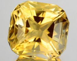 ~CUSTOM CUT~ 5.00 Cts Natural Golden Orange Citrine Fancy Cushion Brazil