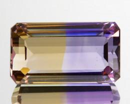 ~EMERALD CUT ~ 5.96 Cts Natural Bi-Color Ametrine Octagon Bolivia