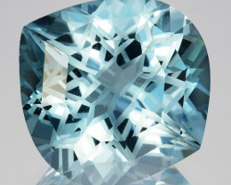 ~CUSTOM CUT~ 18.84 Cts Stunning Natural Blue Topaz Fancy Cut Brazil