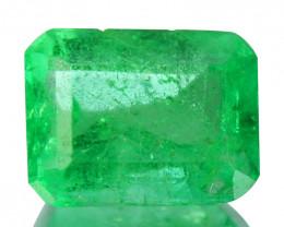 Natural Vivid Green Emerald Octagon Cut Colombia 0.30 Cts