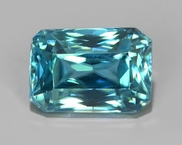 4.40 CTS AWESOME SPARKLE NATURAL RARE BEST BLUE ZIRCON~EXCELLENT!