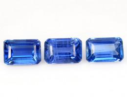 2.67 Cts 3 Pcs Fancy Royal Blue Color Natural Kyanite Gemstones