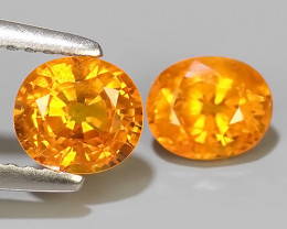 1.90 CTS~AWESOME NICE ORANGEISH-YELLOW SAPPHIRE FACET GENUINE~