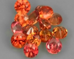 1.30 Cts~Excellent Natural Intense Beautiful Orange Yellow Sapphire Round!!