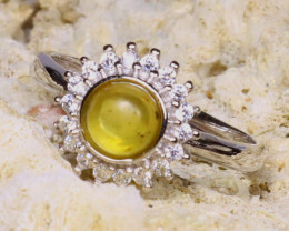 Baltic Amber Ring 1.94g 925 Sterling Silver Adjustable Ring E2401
