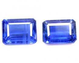 4.03 Cts 2 Pcs Fancy Royal Blue Color Natural Kyanite Gemstone