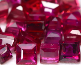 Red Ruby 1.65Ct Princess 1.8mm Natural Burmese Blood Red Ruby AB1936