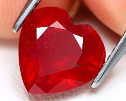 Red Ruby 3.77Ct Heart Cut Pigeon Blood Red Ruby AB1908