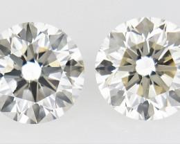 0.30 ct , Pair Round Diamonds , Light Color Diamonds , WR1220
