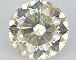 0.25 CTS , Off White Diamond , Natural Round Brilliant Cut