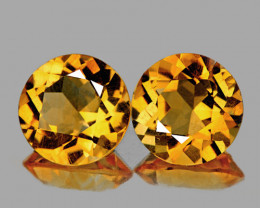 9.00 mm Round 4.60cts Golden Yellow Citrine [VVS]