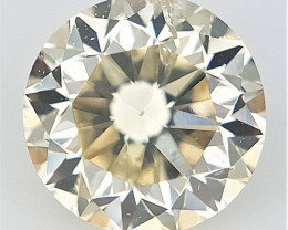 0.21 cts , Natural yellow Diamond , Light Colored Diamond