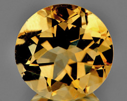 9.00 mm Round 2.37cts Golden Yellow Citrine [VVS]
