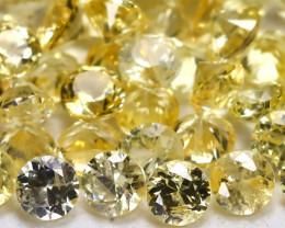 1.69Ct Calibrate 1.7mm Round Natural Ceylon Yellow Sapphire AB1983