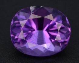 4.20 CT Natural Gorgeous Color Fancy Cut Amethyst A.Q